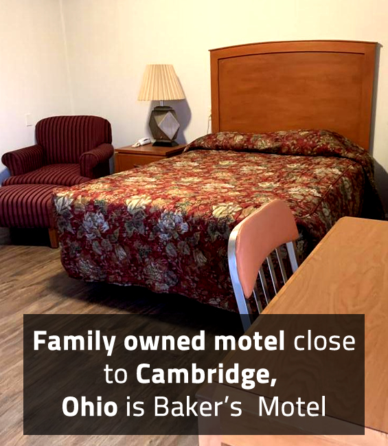 Family owned motel close to Cambridge, Ohio is Baker's Motel