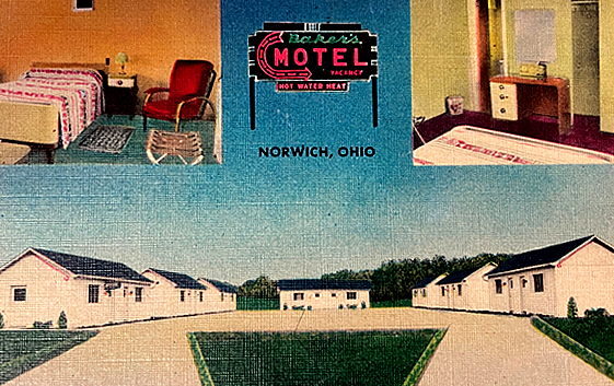 Earliest postcard of the motel from 1937