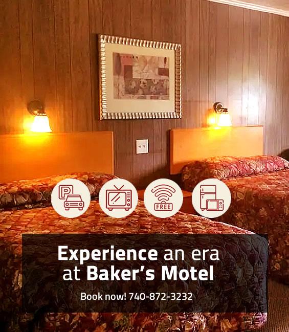 Experience an era at Baker's Motel