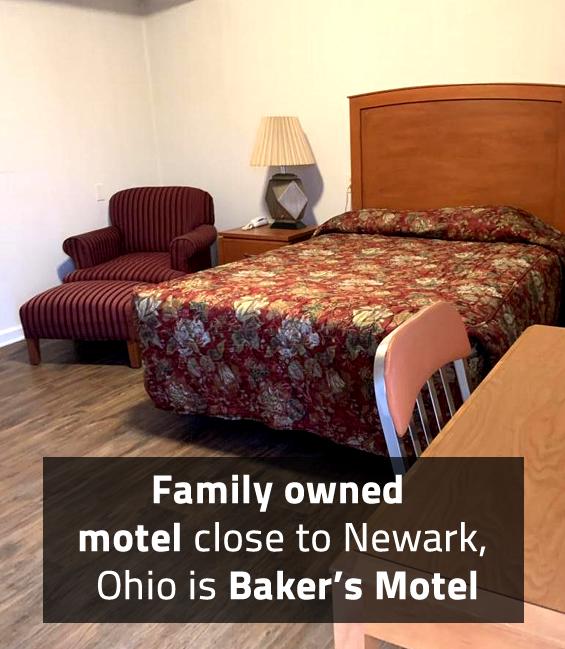 Family owned motel close to Newark, Ohio is Baker's Motel